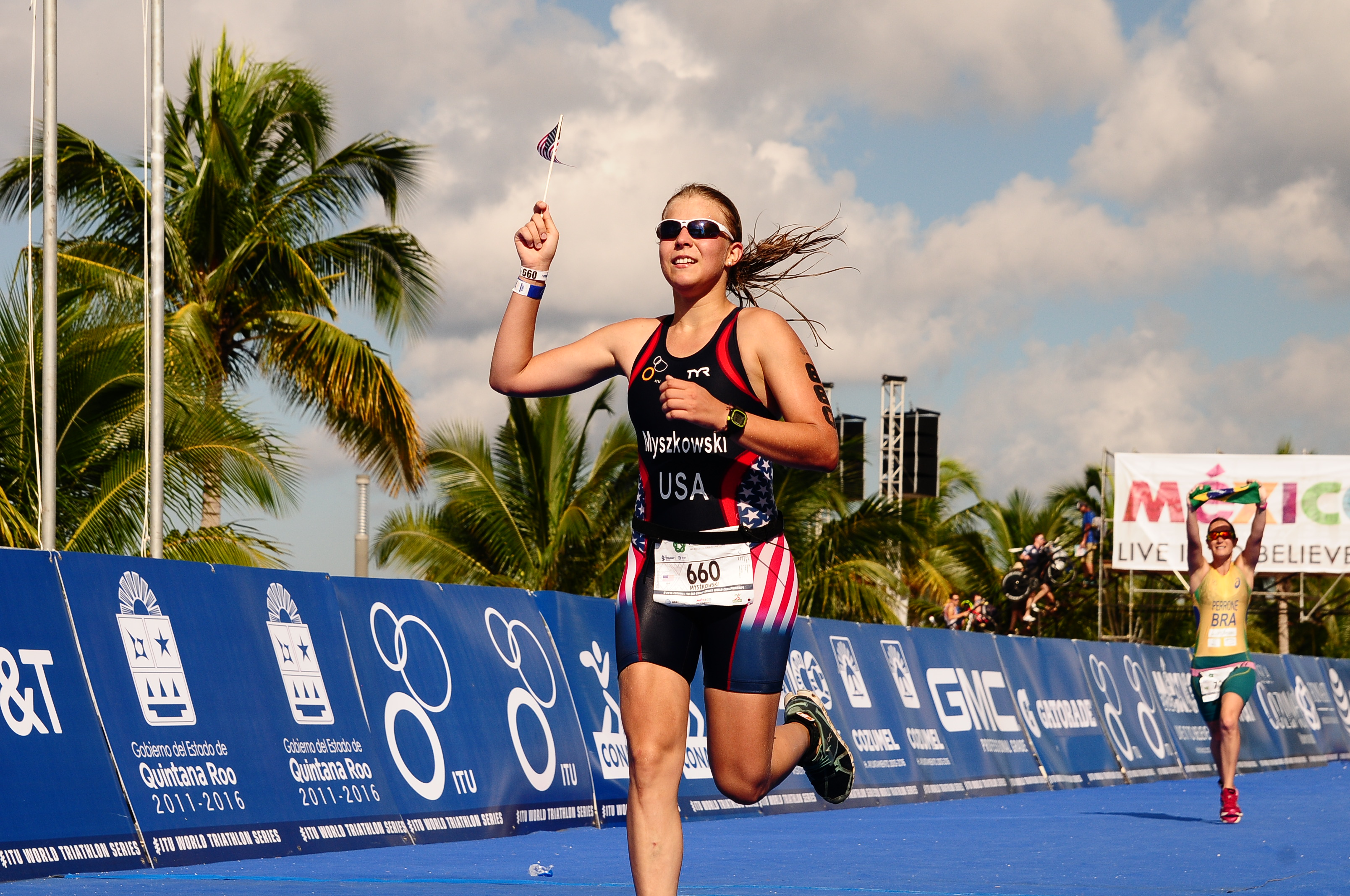 Olivia Myszkowski was part of the Team USA at the World Triathlon in September.