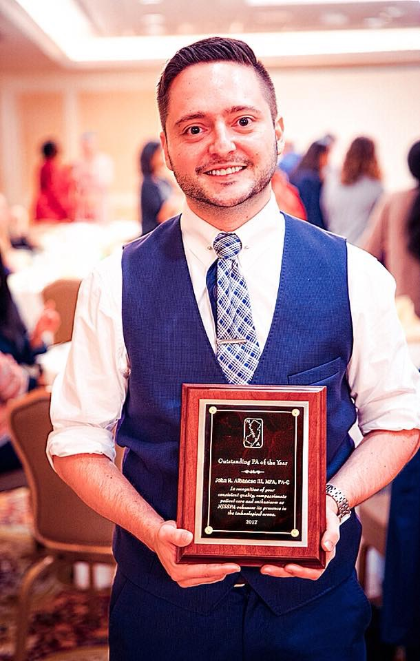 PA John Albanese, an alumnus of SHS Bay Shore, was named NJ\'s PA of the Year.