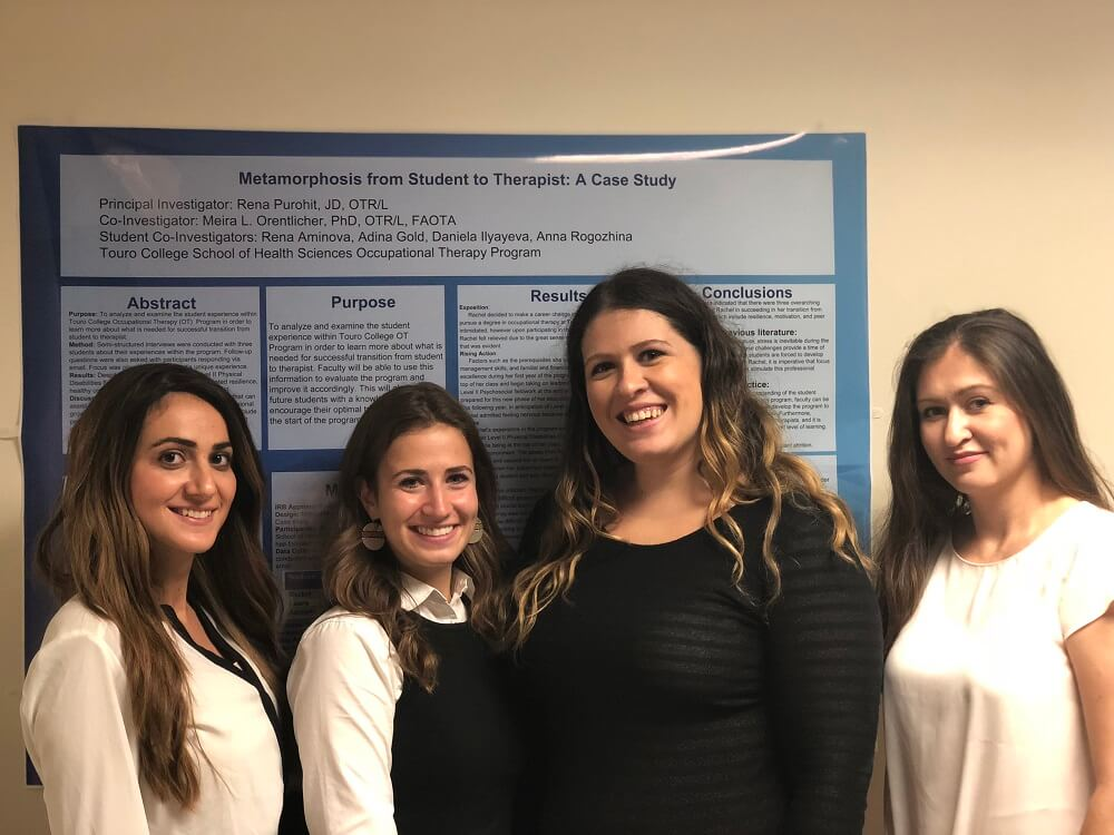 Students in Touro\'s School of Health Sciences Occupational Therapy program delivered their research presentations on Oct.11.