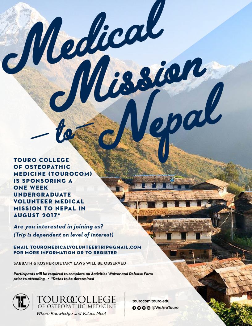 Undergraduate volunteer medical mission to Nepal.