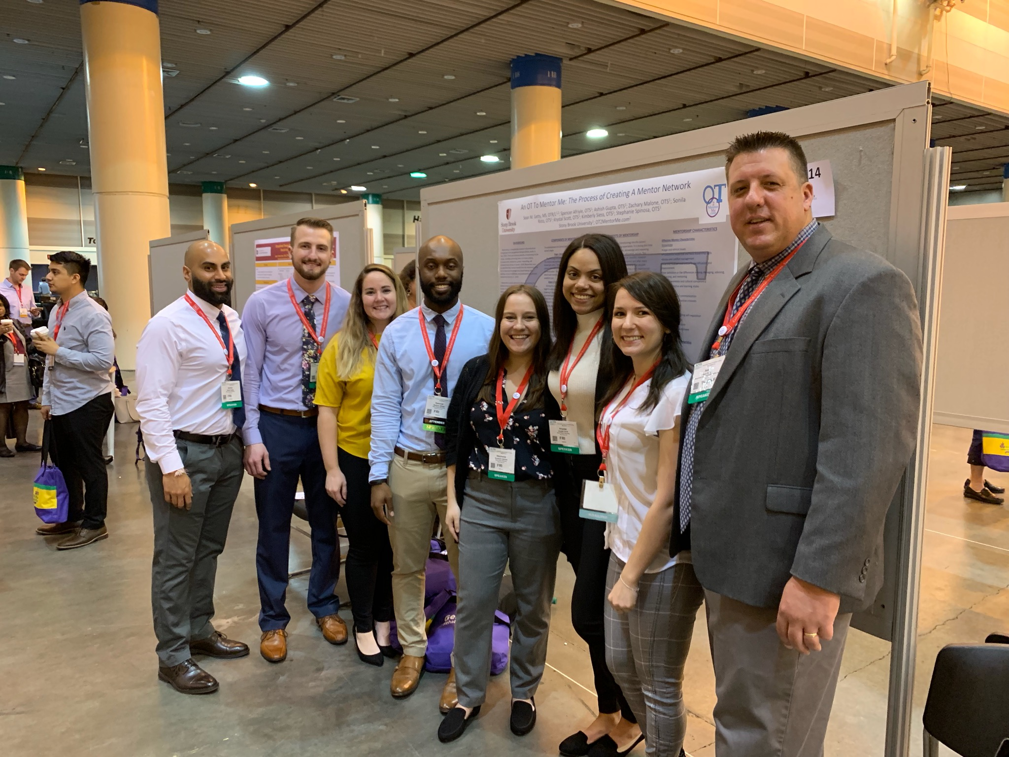 Touro Alum Sean Getty (far right) at the 2019 American Occupational Therapy Association\'s Annual Conference.