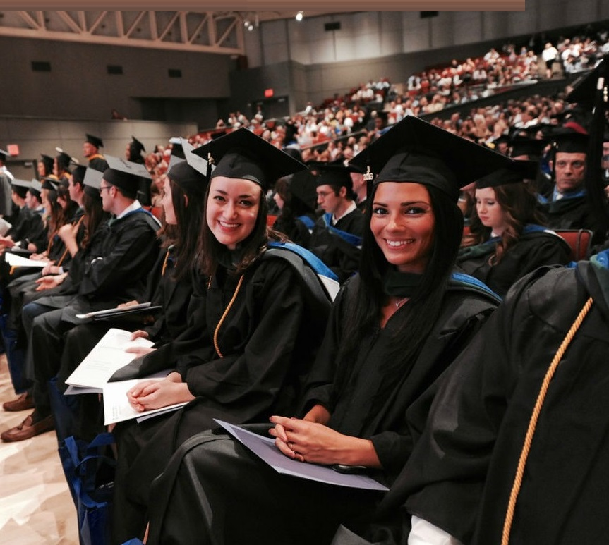 Tova Kutner and Stephanie Luca at SHS commencement ceremony